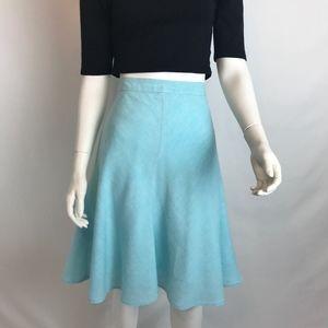 Banana Republic Turquoise Linen Bias Cut Skirt